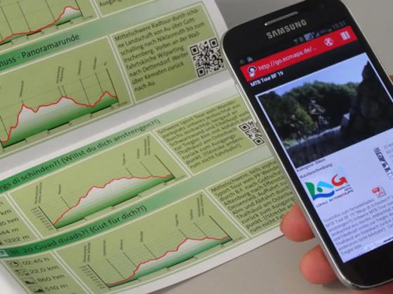 Per QR-Code kommt die Tour bequerm auf's Smartphone