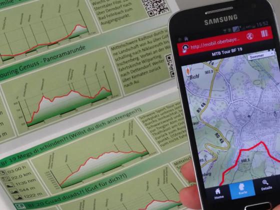 Immer die Touren zur Hand - auf Papier und digital