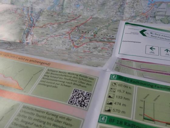 Der QR-Code bringt die Tour auf's Smartphone