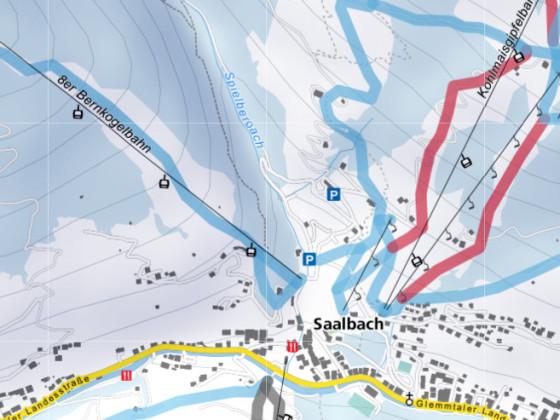 Saalbach - Schneekarte