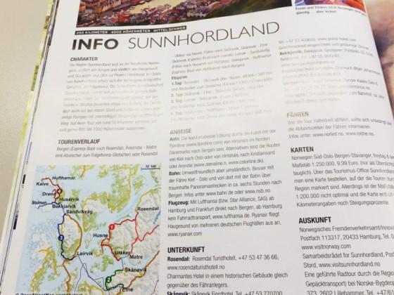 Norwegen-Karte in der Trekkingbike