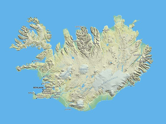 Übersichtskarte Island