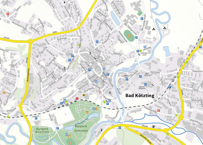 Stadtplan Bad Kötzting - Maßstab 1:7.500