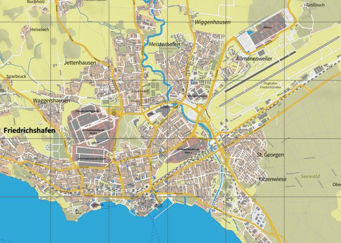 Stadtplan Friedrichshafen