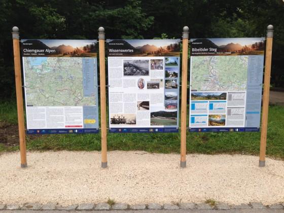 Chiemgauer Alpen Infotafeln