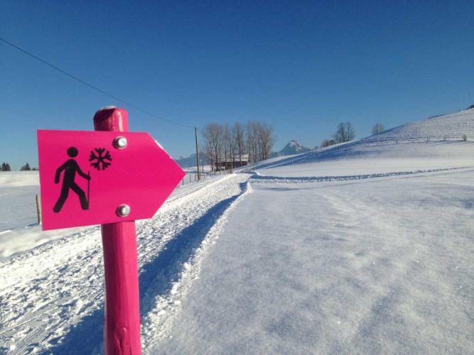 Beschilderung Winterwanderwege