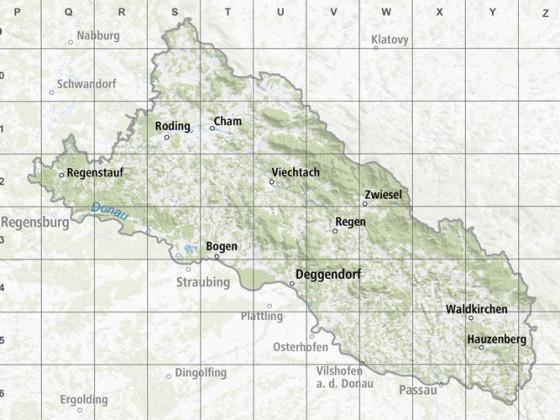 Karte Bayerischer-Wald