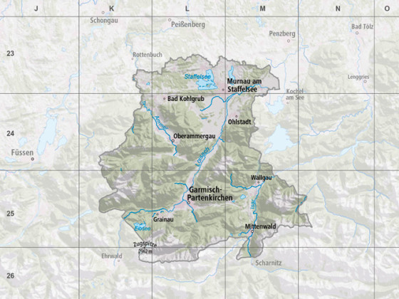 Detailkarte Zugspitzregion