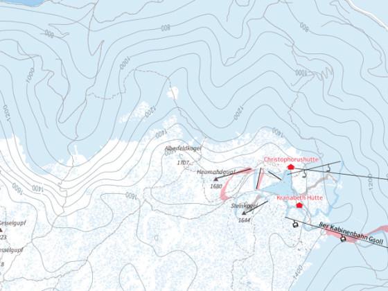 Ausschnitt Winterkarte