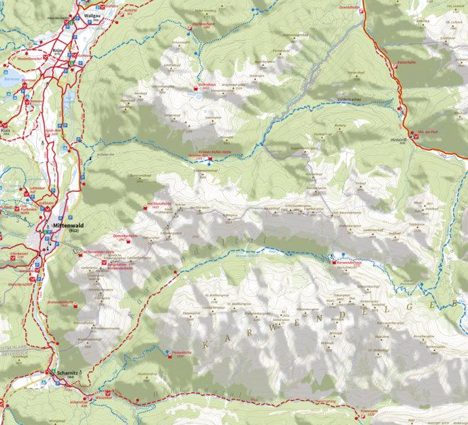 Radkarte Alpenwelt Karwendel
