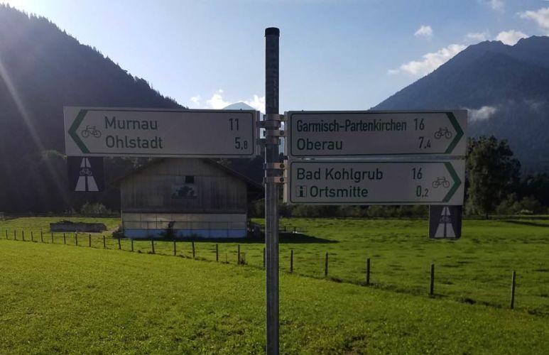 Radwegweiser Zugspitz Region