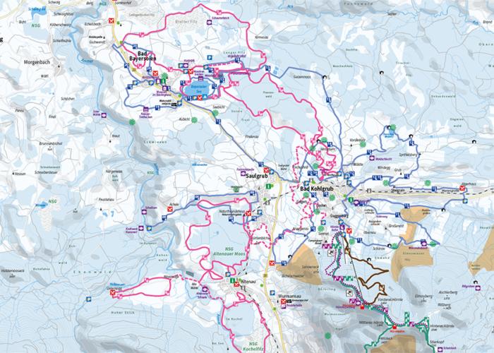 Winterkarte Ammergauer Alpen