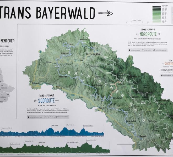 Reliefkarte Trans-Bayerwald