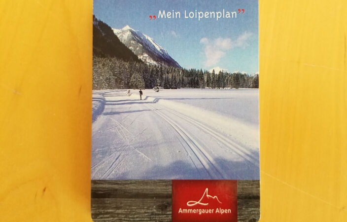 Loipenflyer Ammergauer Alpen