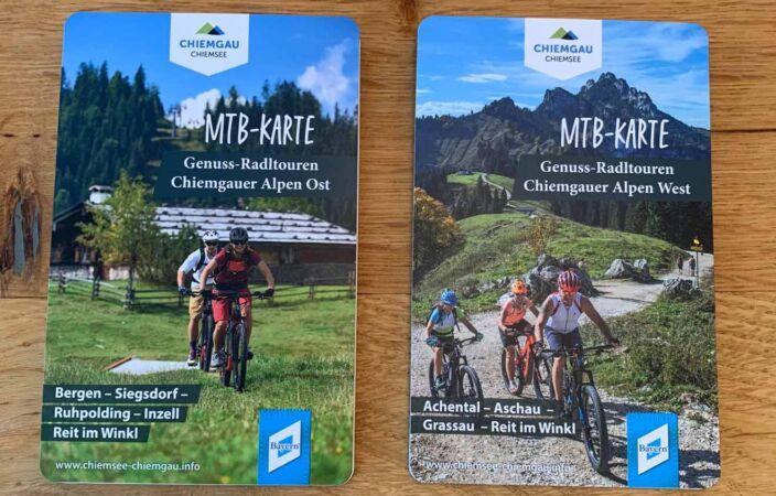 MTB-Karte Chiemgauer Alpen Ost und West